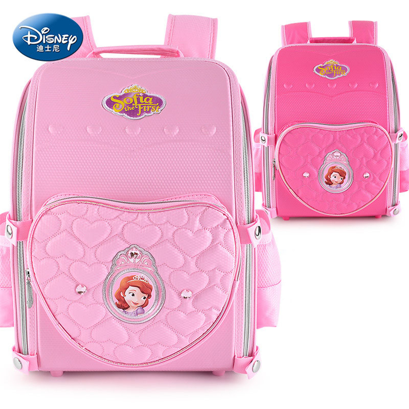 цена Disney Sophia Princess Children Backpack High Quality School Bag for Girls Cartoon Schoolbag Ultralight Kids Satchel Grade 1-5