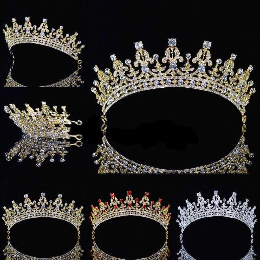 Royal Wedding Crown Crystal Rhinestone Prom Pegeant Tiara