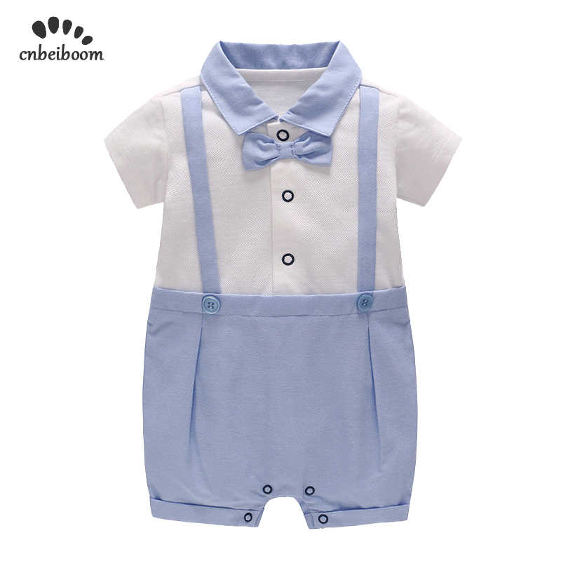 52a2a83c8e9e Baby Rompers Christening Baptism New Born Baby jumpsuit Newborn infant  Clothes kids chird Gentleman Boy Rompers