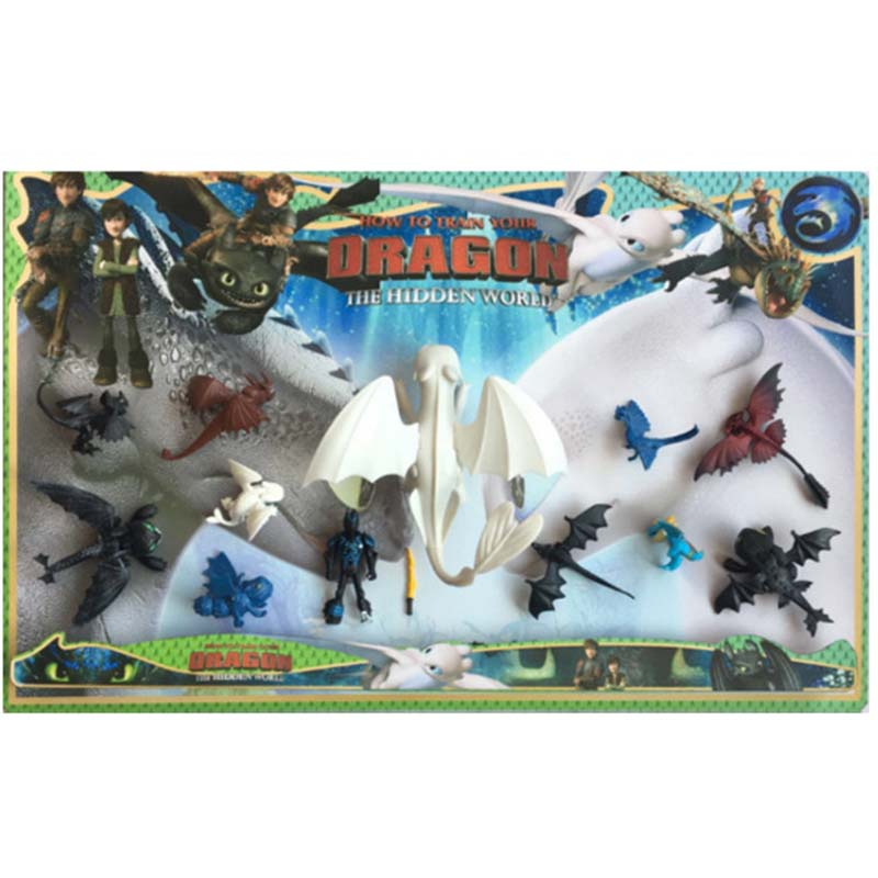 How To Train Your Dragon 3 Toothless Cartoon PVC Figures Action Figure Toys Kids Collection Ornaments Kids Xmas Gift in Action Toy Figures from Toys Hobbies