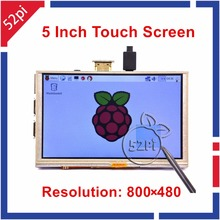 Best price 52Pi Ship from CN/US/UK! Raspberry Pi 5 inch 800×480 HDMI LCD Display Resistive Touch Screen Monitor for Raspberry Pi 3/2/B+