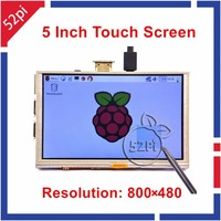 Raspberry Pi 5 inch 800x480 GPIO HDMI LCD Display Resistive Touch Screen Monitor ONLY Compatible with Raspberry Pi 3/2 B