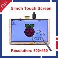 Raspberry Pi 5 Inch HDMI LCD 800x480 Resistive Touch Screen For Raspberry Pi 3 2 Model