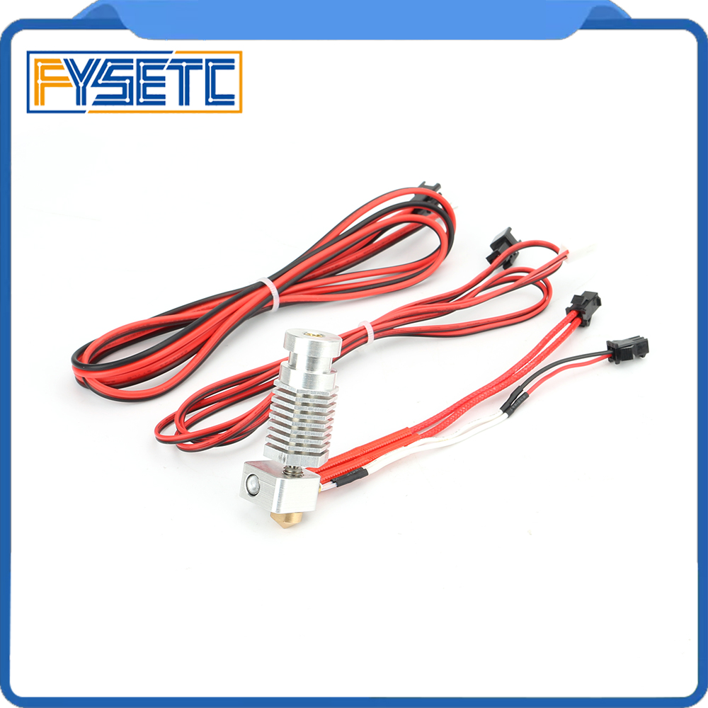 1Set R1 R1 Hexagon Hot End Kit 1 75mm All Metal Hotend 12v With 100Kohm Thermistor