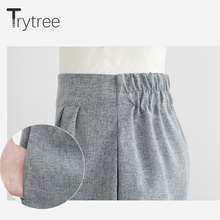 Trytree Spring summer Women Set Casual Cotton tops + short