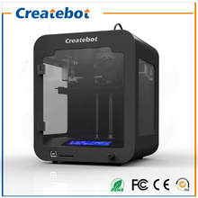 Createbot Build size 85*80*94mm LCD Small 3D Printer Metal Frame Structure super mini 3d printer kit with 200g PLA Filament
