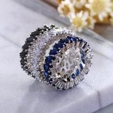 Модное красочное кольцо на палец с фианитом элегантный простой