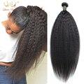 "Peruvian Virgin Hair Straight Coarse Yaki 3 Pcs/Lot Peruvian Hair Weave Bundles Italian Yaki 8""-30"" Kinky Straight Human Hair"