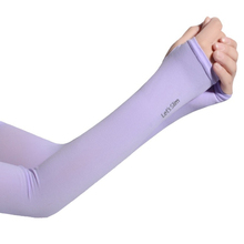 Summer Ice Fabric Arm Sleeves Mangas Warmers Sleeves Sports UV Protection Running Cycling Driving Reflective Sunscreen Bands