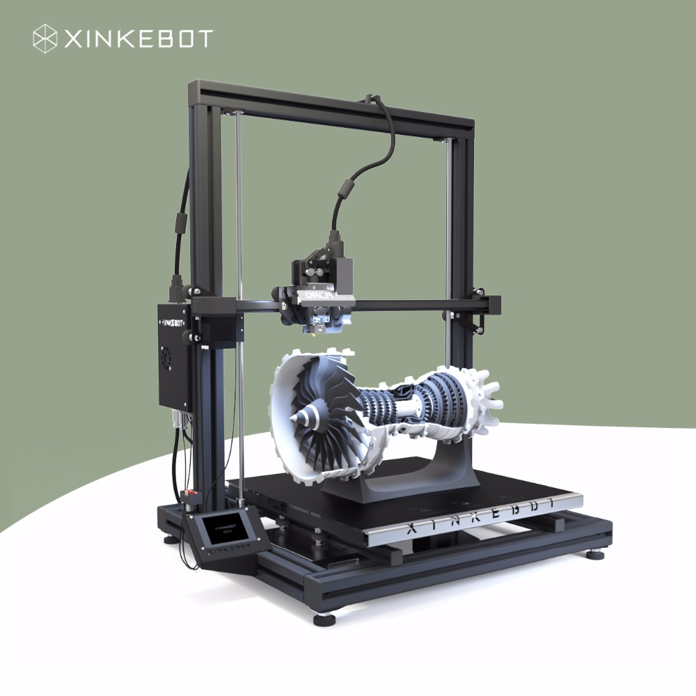 Large 3D Printer Dual Extruder 400x400x500mm Printing Area Xinkebot Orca2 Cygnus High Quality Glass Bed Free