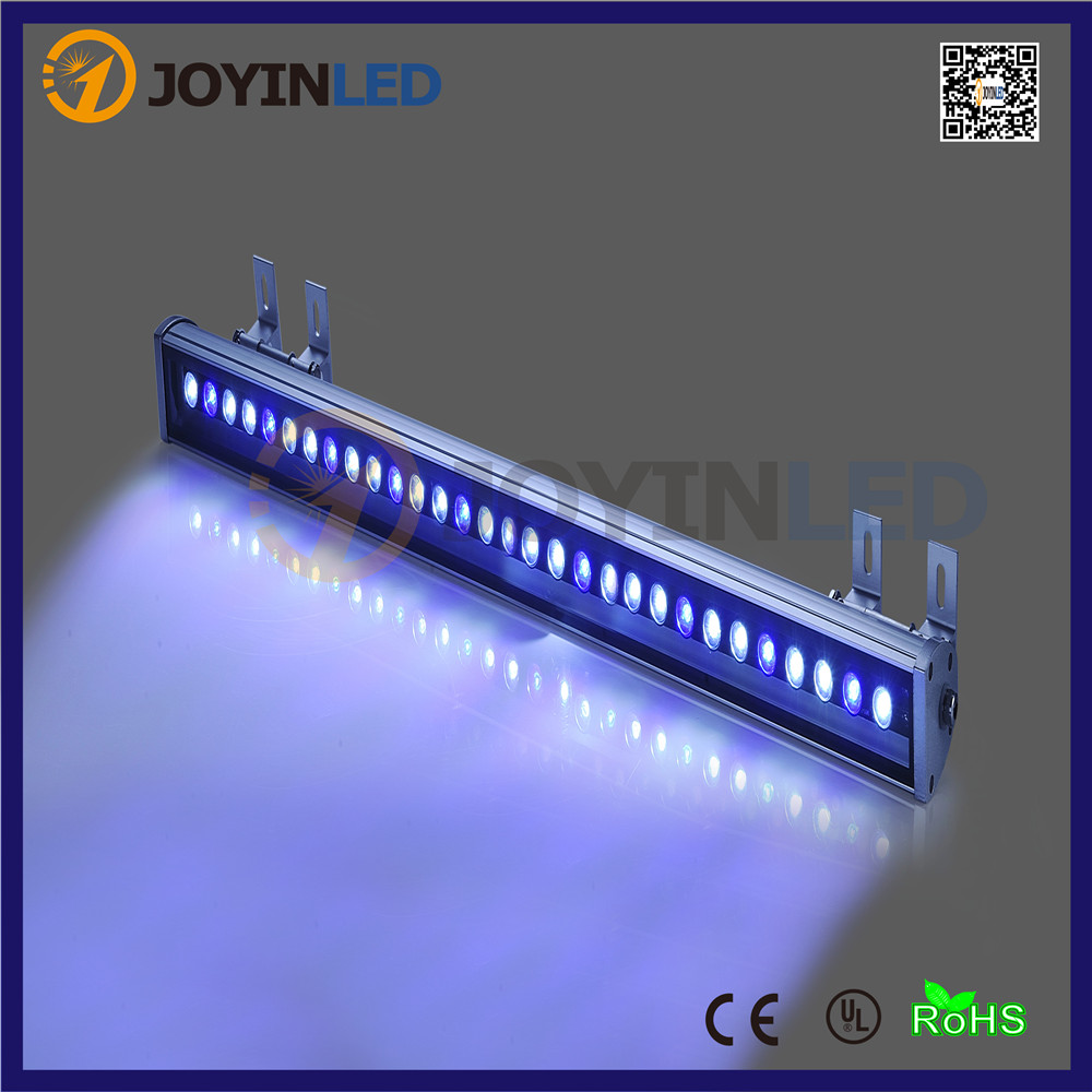 Free shipping DC24V 36W DMX512 RGB  led wall washer light dc 24 v 36w rgb led wall washer light full color 1200 70 71mm