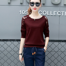 Hollow Out T Shirt Women Tee Femme Yellow T-shirt Camisetas Mujer Verano 2018 Autumn Fashion Long Sleeve Tops