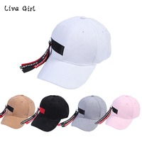 Fashion Cap Women Men Summer Spring Personality Caps Women Letter Solid Adult Baseball Cap Black White