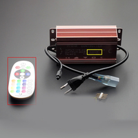 3pcs 5050 colorful RGB remote controller Led Lamp 100 meters 220v high power supply color 4 Line Lamp