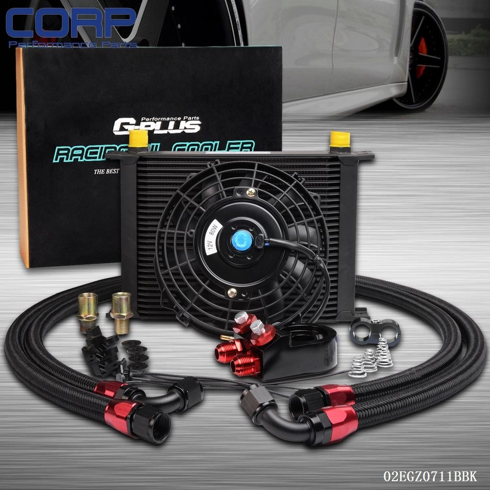 Engine Oil Cooler : Row an universal engine oil cooler kit filter