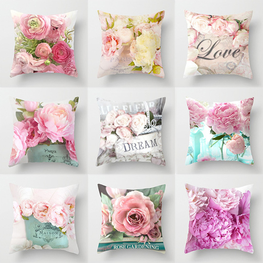 2019 New American Dream Country Roses Pillowcase for Car Sofa Chair Valentine Gift Love Letter Party Decorative Cushion Covers-in Cushion Cover from Home & Garden