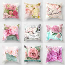 2019 New American Dream Country Roses Pillowcase for Car Sofa Chair Valentine Gift Love Letter Party Decorative Cushion Covers