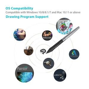 Image 4 - Huion H610 פרו V2 דיגיטלי גרפי טבליות אמן עיצוב ציור Tablet הטיה פונקציה סוללה משלוח עט טבליות עבור Win ו mac