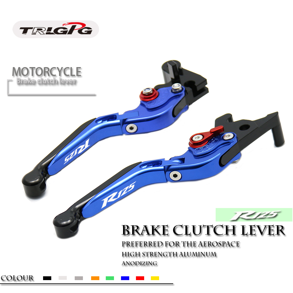 CNC Adjustable Foldable Motorbike Brakes Clutch Levers For Yamaha YZF R125 YZF R125 YZF R 125 2008 2014 2012 2011 2010 2009 13