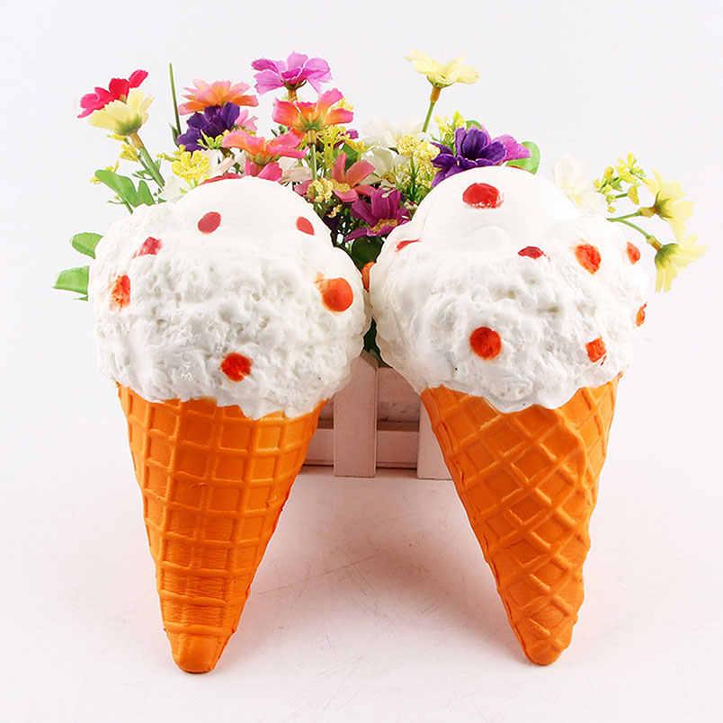 19スタイルジャンボフワフワ抗ストレスかわいいパンアップルアイスクリームカボチャスーパー遅い上昇スクイズチャーム香りキッズおもちゃスライム