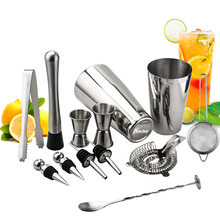 600ml 750ml Stainless Steel Cocktail Shaker Mixer Drink Bartender Browser Kit Bars Set Tools Tool