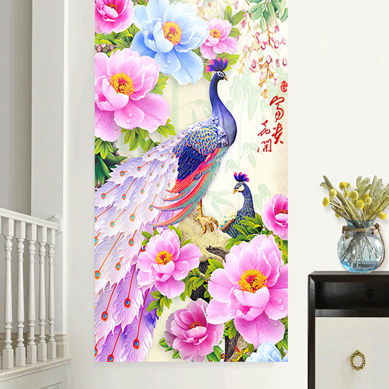 Large Full Square Drill 5D DIY Diamond Painting Blossoming rich peacock Embroidery Cross Stitch Mosaic Home Decor Gift Y2844Large Full Square Drill 5D DIY Diamond Painting Blossoming rich peacock Embroidery Cross Stitch Mosaic Home Decor Gift Y2844