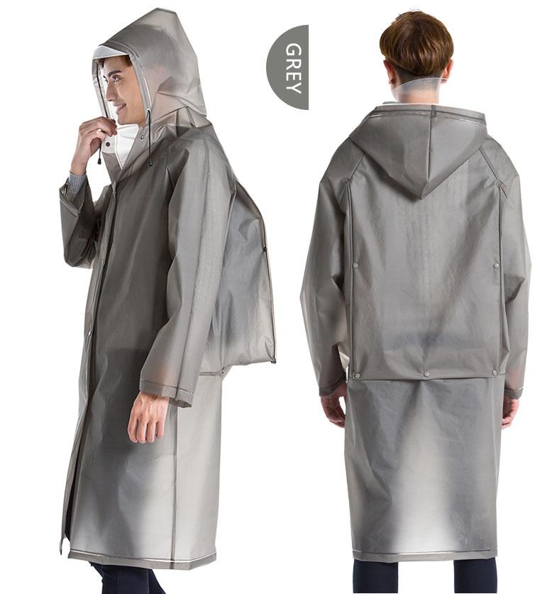 Yuding Langen Regenmantel EVA Dicken Regenbekleidung Universal Poncho Wasserdicht Wandern Tour Kapuze Regen Mantel Enthalten Schul Position