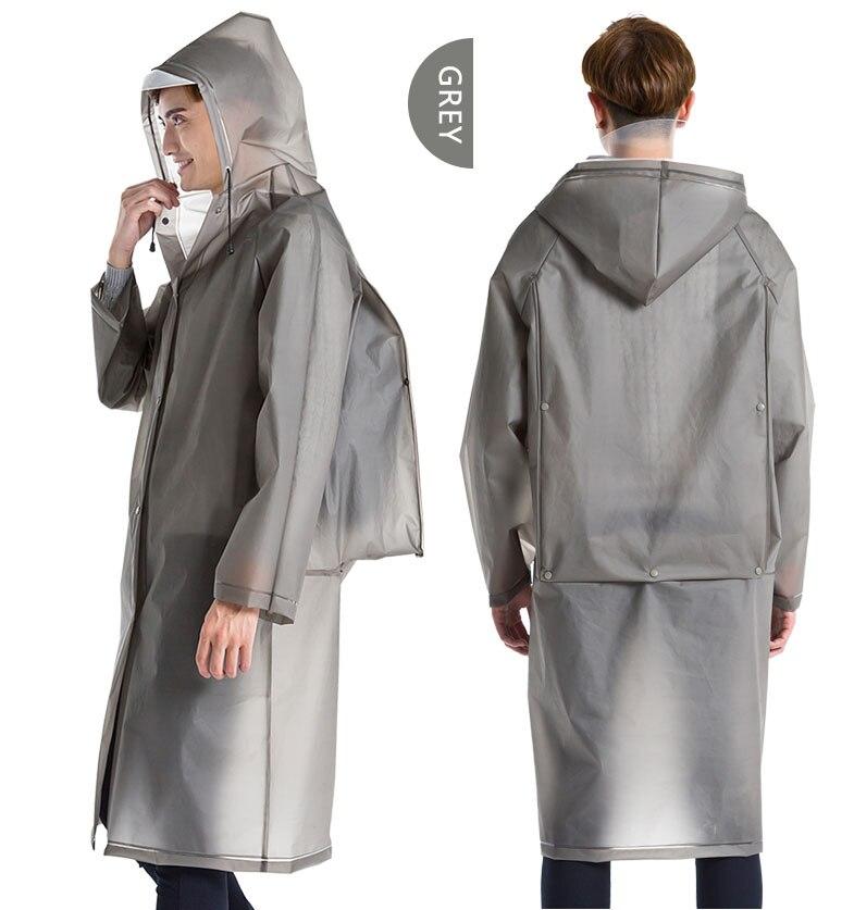 Yuding Long Raincoat EVA Thick Rainwear Universal Poncho Waterproof Hiking Tour Hooded Rain Coat Include Schoolbag Position