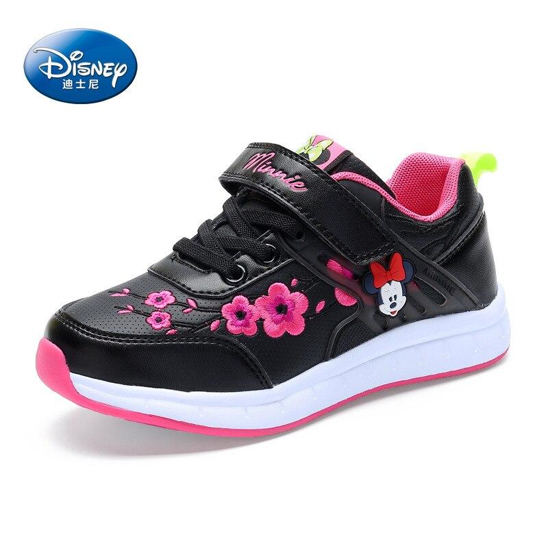 Disney chaussures pour enfants 2018 printemps automne nouvelles filles chaussures de sport enfants décontracté garçon chaussures portable voyage sneaker