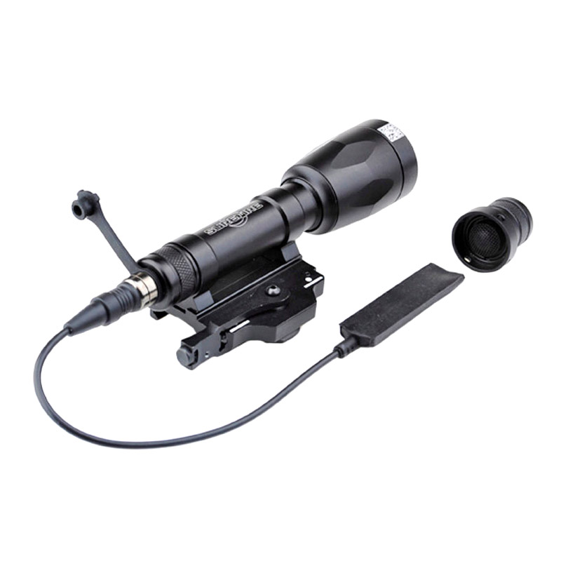 Tactical Weapon LED 679 Lumens Flashlight with Pressure Tape Switch Picatinny Rail Mount Adapter