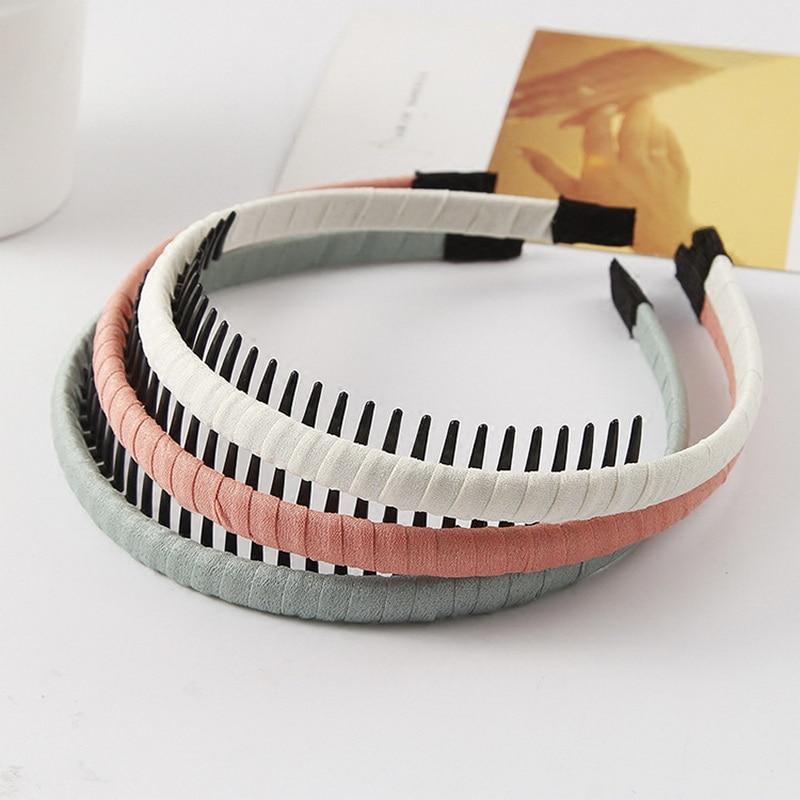 1Pc/lot Korean Version High Quality Cloth Wrap Headband with Teeth Kids Girls Hair Hoop Headdress For DIY Jewelry Accessories