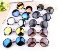 New 2017 colorido óculos de sol das mulheres rodada óculos de sol revestimento sunglass shades steampunk do vintage oculos de sol feminino gafas