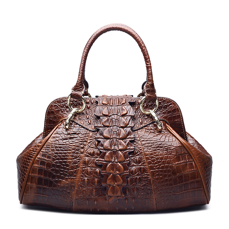 2016 new design Classic Embossed Crocodile Purse Genuine Leather Office Ladies Handbags 247 classic leather