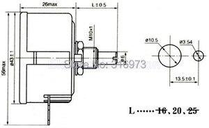 Image 5 - (2 pcs/lot) 100 OHM 5W Wirewound Rotary Potentiometer, WX112(050) Pots, 5 Watts.