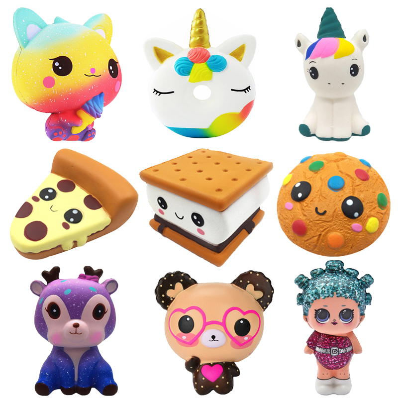 Jumbo Chocolate Biscuits Cheese Cute Squishy Slow Rising Soft Squeeze Toy Phone Strap Scented Relieve Stress Funny Kid Xmas Gift