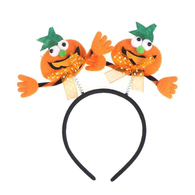 Kabak led ışık Cadılar Bayramı Kafa Bandı Yenilik saç bandı Cadılar Bayramı Karnaval Masquerade Parti Kostüm Cosplay Dekorasyon