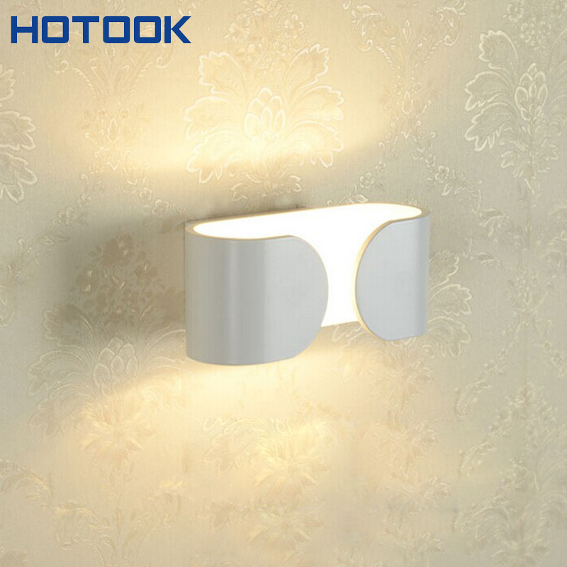 White LED Up Down Wall Lamp 6W COB 220V Spot Bathroom Sconce Lighting Hall Porch Walkway Bedroom Livingroom Home Fixture Light  indoor wall mounted led wall sconce up down led wall lamp lighting input 220 240v