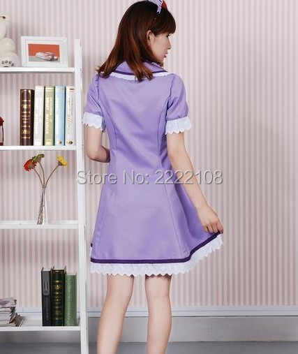 a465cda6e4944 ... 2018 New Anime Vocaloid 2 Ren/Rin Hatsune Miku Cosplay Costume Nurse  Dress Uniform Set