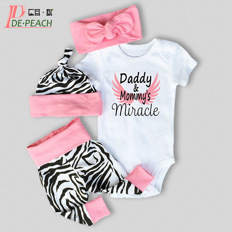 New Born Baby Brand Clothes Set Girls Suit Cotton Short Sleeve Bodysuit+Pant+Headband Girl outfit toddler clothing 3pcs set newborn infant baby boy girl clothes 2017 summer short sleeve leopard floral romper bodysuit headband shoes outfits