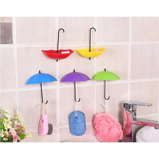 3pcs/lot Colorful Creative Umbrella Shape Decorative Wall Hooks ...