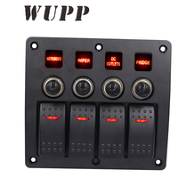 Best Professional Waterproof Switching Panel 12V Car Boat Marine Multi Function Switching 4 6 8 Gang