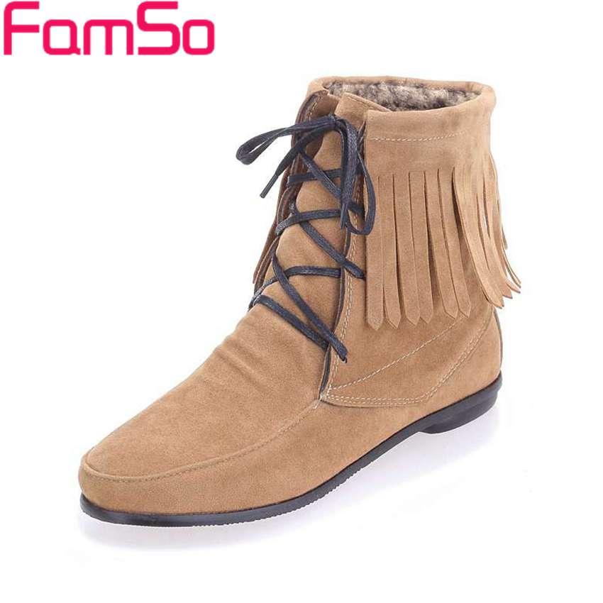 Plus Size 34 48 2016 New Arrival font b Women b font Boots Black Spring Autumn