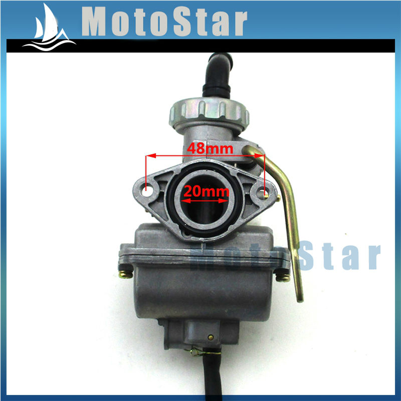 US $14 64 30% OFF|Aliexpress com : Buy 20mm Carburetor For Chinese 50cc  70cc 90cc 110cc Engine Carb ATV Dirt Pit Motor Bike Go Kart CRF50 XR50 SSR