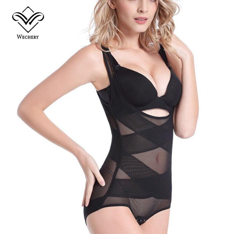 Wechery Seamless Thin Bodysuits Women Slim Full Body