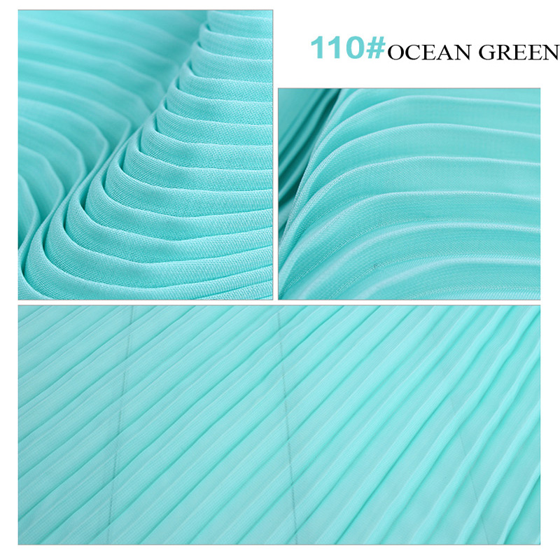 Pleated Chiffon Fabric 100D Polyester Yarn 150cm Width Solid Dyed Drapery For Dress Skirt Coat