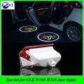 2 Pcs porta do carro LEVOU logotipo lâmpada do projetor 3D bem-vindo sombra luz laser para Mercedes Benz GLK X204 Classe A W168 W169 W245 Classe B