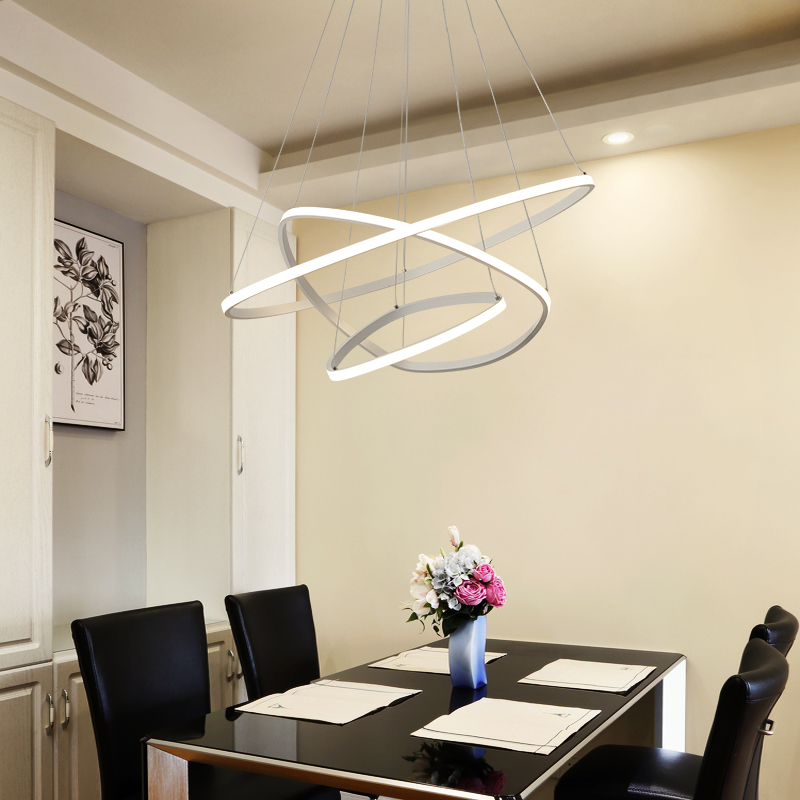Circle Rings Modern LED Pendant Lights for Dining Room Living Kitchen Room Hanging Hanglampen Suspension Pendant Lamp Fixtures