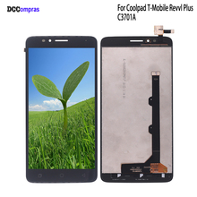 For Coolpad T-Mobile Revvl Plus C3701 LCD Display Touch Screen For Coolpad C3701 LCD Display Complete Assembly Phone Parts in stock coolpad f2 touch screen lcd display for coolpad f2 8675 octa core 4g lte fdd 5 5 inch touch panel mobile phone