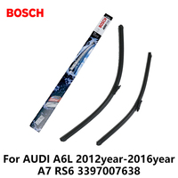 2pcs Lot Bosch Car AEROTWIN Wipers Windshield Wiper Blades Dedicated Wipers For AUDI A6L 2012year 2016year