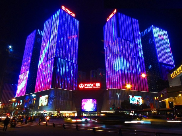 Programmable Led Pixel Screen Media Facades Moving